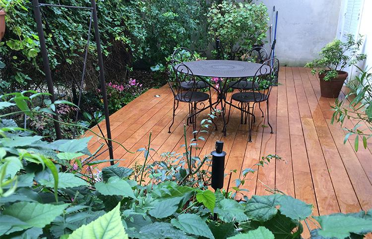 Terrasse en bois Robinier Paris 17